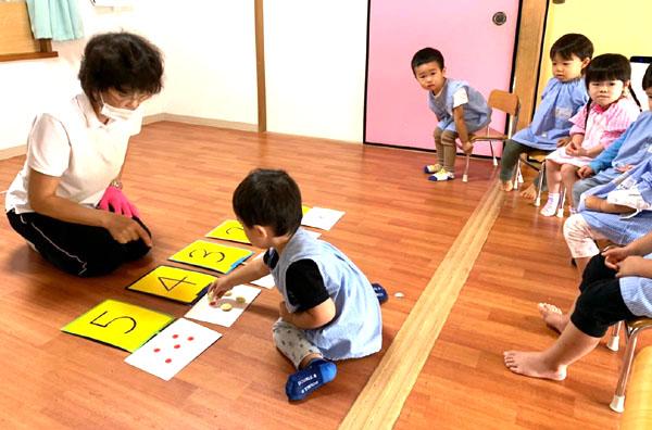 プレ1歳児 数字を覚えよう 令和2(2020)年10月5日