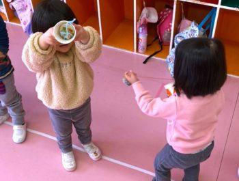 けん玉遊び〈2歳児〉 令和3(2021)年1月18日