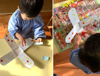 こま作り〈1歳児〉 令和3(2021)年1月14日