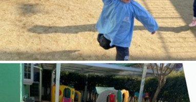 凧揚げ〈2歳児〉 令和3(2021)年1月15日
