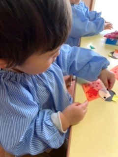 ひな祭り製作〈1歳児〉 令和3(2021)年2月15~18日