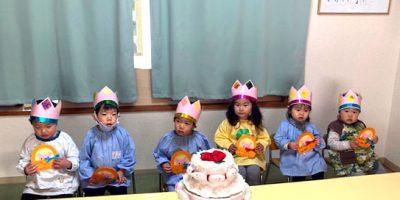3月お誕生日会〈1、2歳児合同〉 令和3(2021)年3月10日