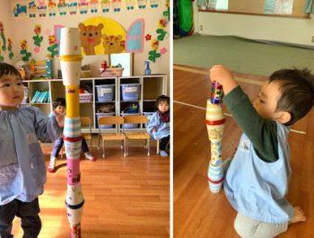 カラコロゴン遊び〈1歳児〉 令和3(2021)年3月17日