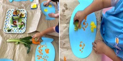 お絵描き「魚」〈2歳児〉 令和3(2021)年7月12~15日