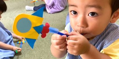 ストローロケット遊び〈1歳児〉 令和3(2021)年7月15日