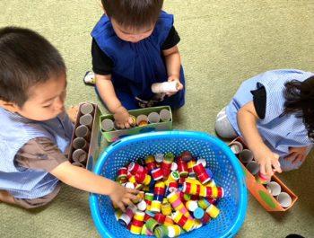 お部屋遊び〈1歳児〉 令和3(2021)年7月1日