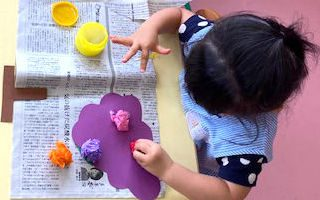 壁面製作「ぶどう」〈2歳児〉 令和3(2021)年8月31日~9月1日