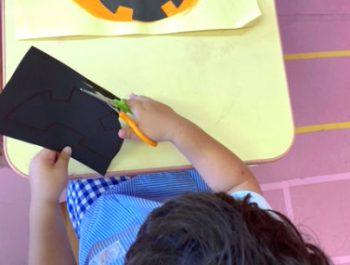 壁面製作「かぼちゃ」〈2歳児〉 令和3(2021)年9月27~29日